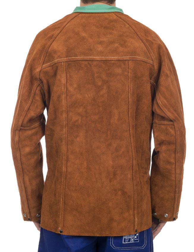 362e4a521d0605 Skórzana kurtka spawalnicza Lava Brown 44-7300 Weldas. Promocja. Skórzana kurtka  spawalnicza ...