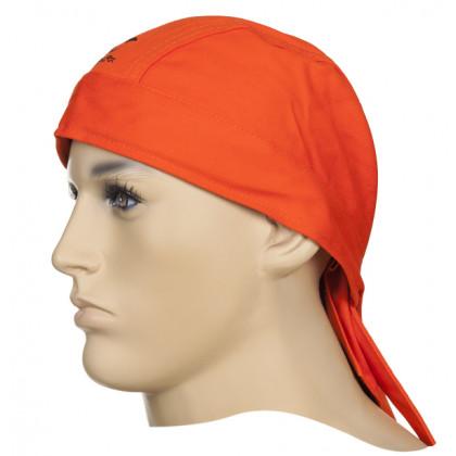 Chusta Doo-Rag, pomarańczowa trudnopana bawełna Fire Fox  23-3613 Weldas