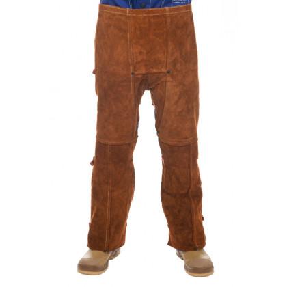 Skórzane przody spodni spawalniczych Lava Brown 44-7440  Weldas