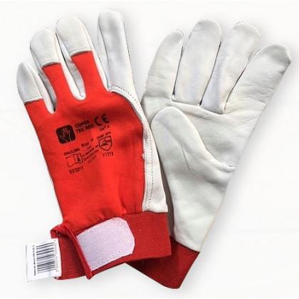 Rękawice ochronne wzmacniane skórą Coper Tec Red
